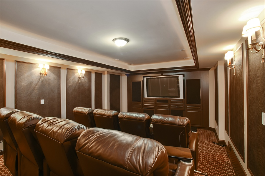 Real Estate Photography - 3393 Old Mill Rd, Highland Park, IL, 60035 - Theater