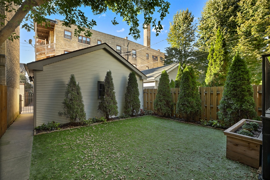Real Estate Photography - 4714 N Wolcott, Chicago, IL, 60640 - Back Yard