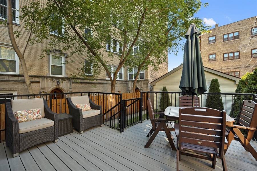 Real Estate Photography - 4714 N Wolcott, Chicago, IL, 60640 - Deck