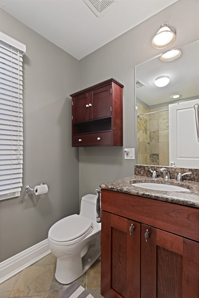 Real Estate Photography - 4714 N Wolcott, Chicago, IL, 60640 - Bathroom