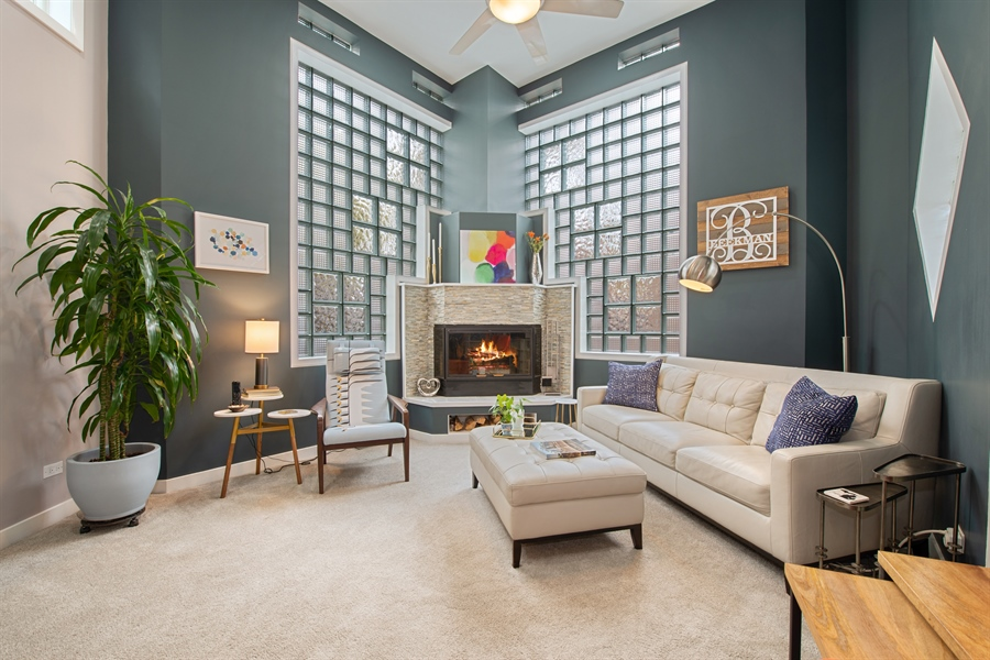 Real Estate Photography - 2338 W Charleston, Chicago, IL, 60647 - Living Room