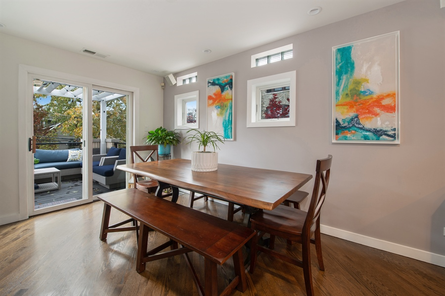Real Estate Photography - 2338 W Charleston, Chicago, IL, 60647 - Dining Room