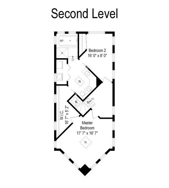 Real Estate Photography - 2338 W Charleston, Chicago, IL, 60647 - Floor Plan