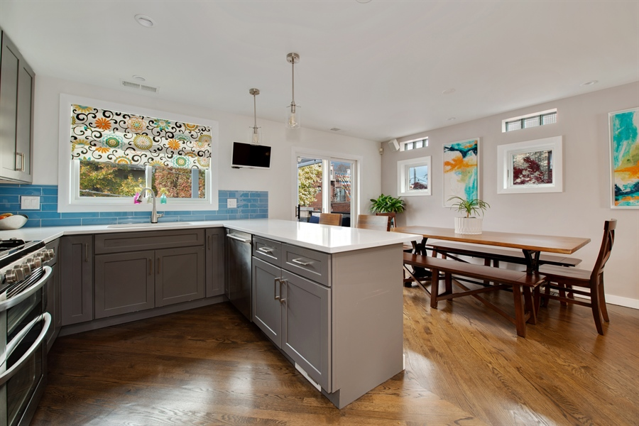 Real Estate Photography - 2338 W Charleston, Chicago, IL, 60647 - Kitchen / Dining Room