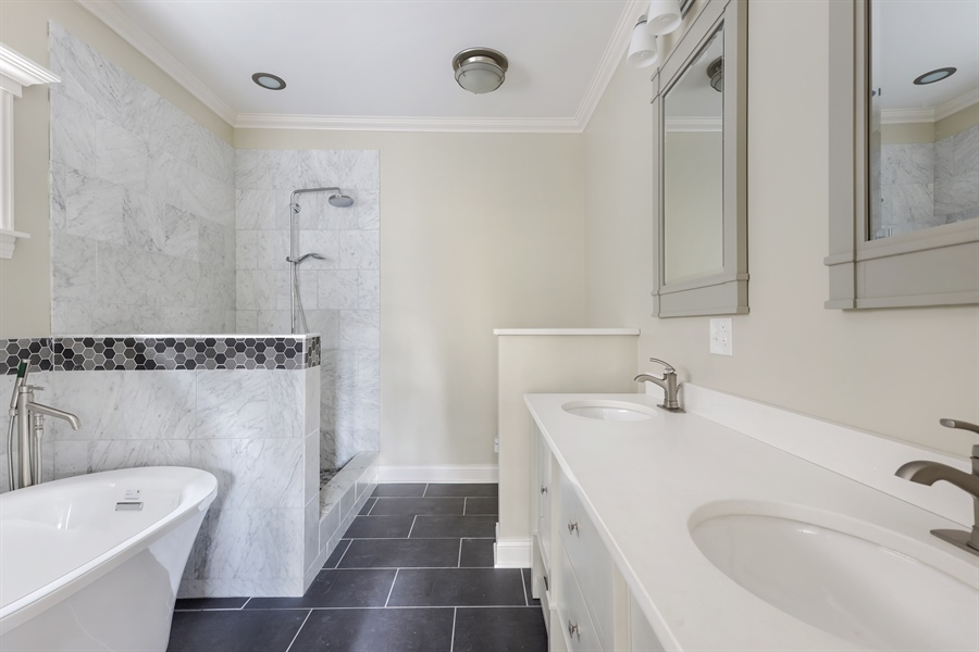 Real Estate Photography - 1626 W Summerdale, Chicago, IL, 60640 - Master Bathroom
