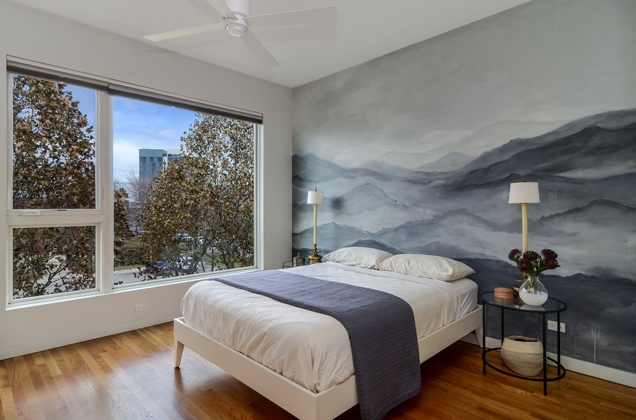 Real Estate Photography - 2811 W Shakespeare Ave, Chicago, IL, 60647 - Master Bedroom