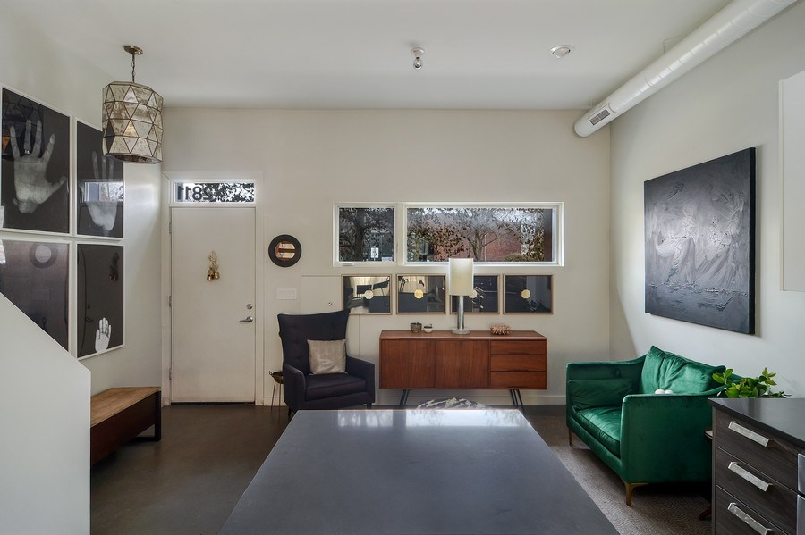 Real Estate Photography - 2811 W Shakespeare Ave, Chicago, IL, 60647 - Foyer/Living Room