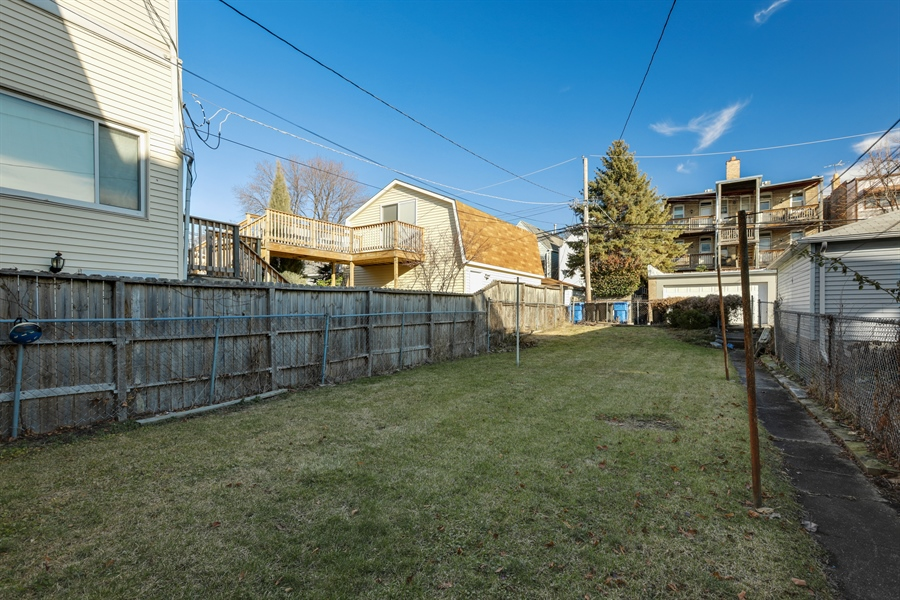 Real Estate Photography - 3435 N Oakley, Chicago, IL, 60618 - Back Yard