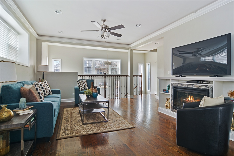 Real Estate Photography - 3747 N Francisco, Chicago, IL, 60618 - Living Room