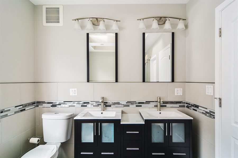 Real Estate Photography - 3747 N Francisco, Chicago, IL, 60618 - Master Bathroom
