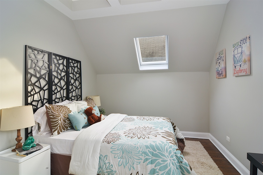 Real Estate Photography - 3747 N Francisco, Chicago, IL, 60618 - 2nd Bedroom