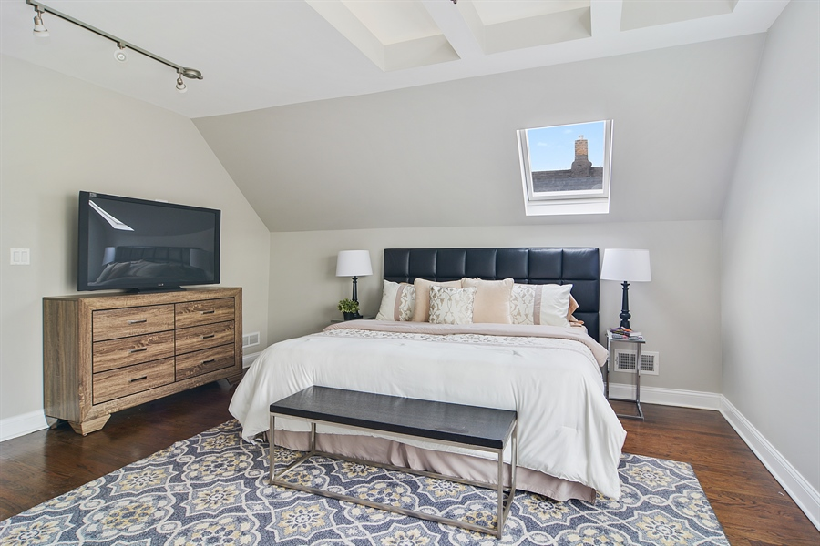 Real Estate Photography - 3747 N Francisco, Chicago, IL, 60618 - Master Bedroom