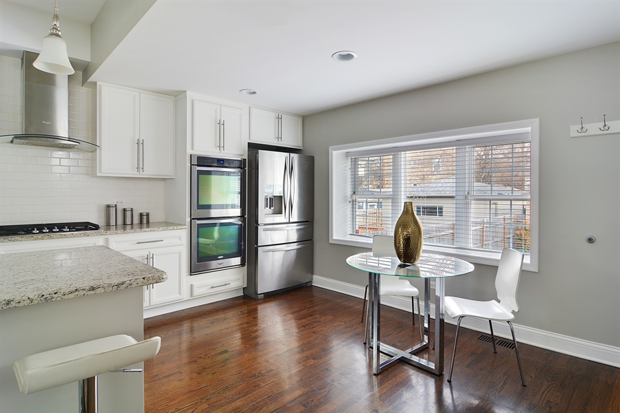 Real Estate Photography - 3747 N Francisco, Chicago, IL, 60618 - Kitchen / Breakfast Room