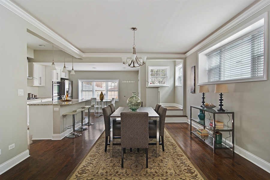 Real Estate Photography - 3747 N Francisco, Chicago, IL, 60618 - Dining Room