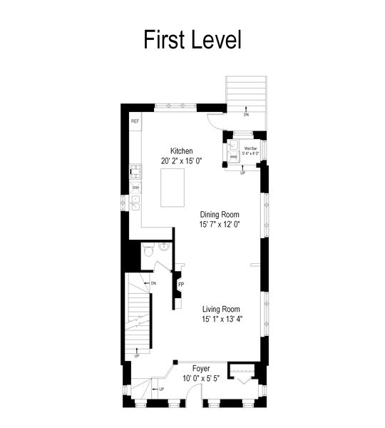 Real Estate Photography - 3747 N Francisco, Chicago, IL, 60618 - Floor Plan