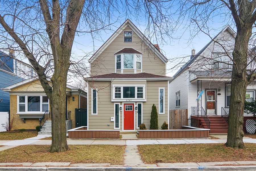 Real Estate Photography - 3747 N Francisco, Chicago, IL, 60618 - Front View