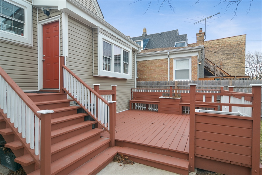 Real Estate Photography - 3747 N Francisco, Chicago, IL, 60618 - Deck