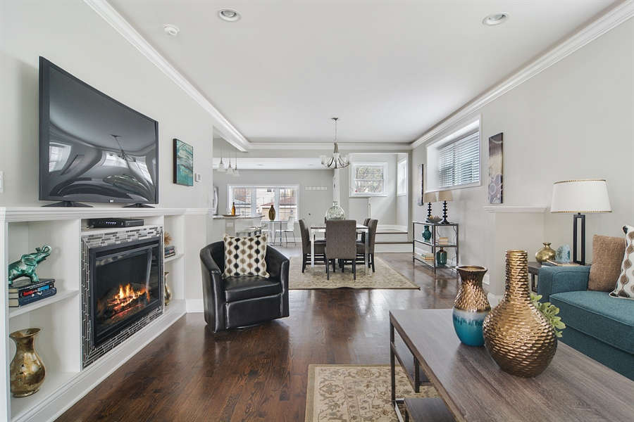 Real Estate Photography - 3747 N Francisco, Chicago, IL, 60618 - Living Room / Dining Room