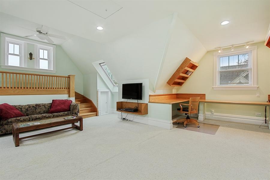 Real Estate Photography - 321 S. Euclid Ave, Oak Park, IL, 60302 - Bonus Room 3rd Floor