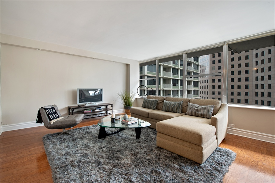 Real Estate Photography - 1000 N Lakeshore, 1501, Chicago, IL, 60611 - Living Room