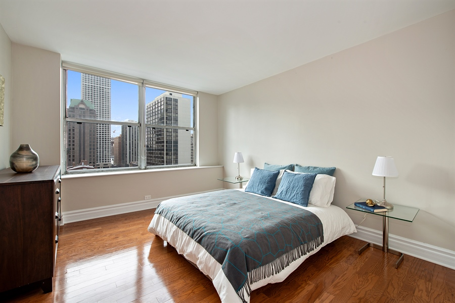 Real Estate Photography - 1000 N Lakeshore, 1501, Chicago, IL, 60611 - 2nd Bedroom