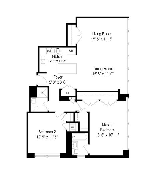 Real Estate Photography - 1000 N Lakeshore, 1501, Chicago, IL, 60611 - Floor Plan