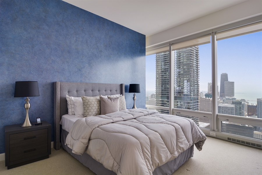 Real Estate Photography - 340 East Randolp, 5803, Chicago, IL, 60601 - 2nd Bedroom