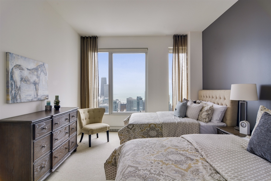 Real Estate Photography - 340 East Randolp, 5803, Chicago, IL, 60601 - 3rd Bedroom