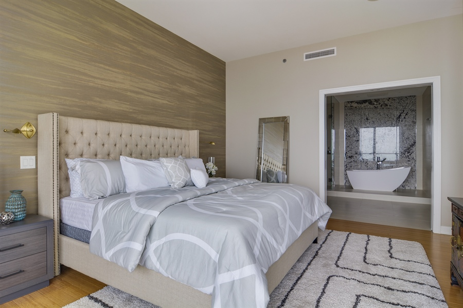 Real Estate Photography - 340 East Randolp, 5803, Chicago, IL, 60601 - Master Bedroom