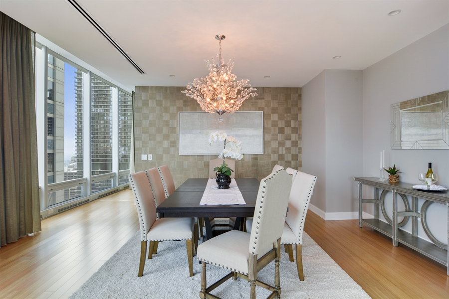 Real Estate Photography - 340 East Randolp, 5803, Chicago, IL, 60601 - Dining Room