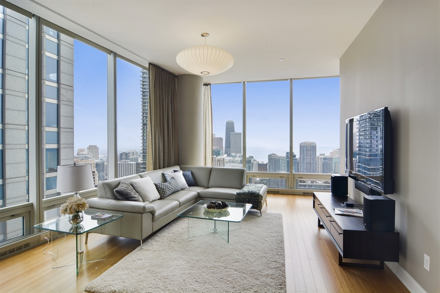 Real Estate Photography - 340 East Randolp, 5803, Chicago, IL, 60601 - Family Room