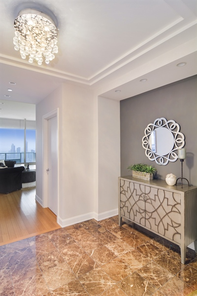 Real Estate Photography - 340 East Randolp, 5803, Chicago, IL, 60601 - Foyer