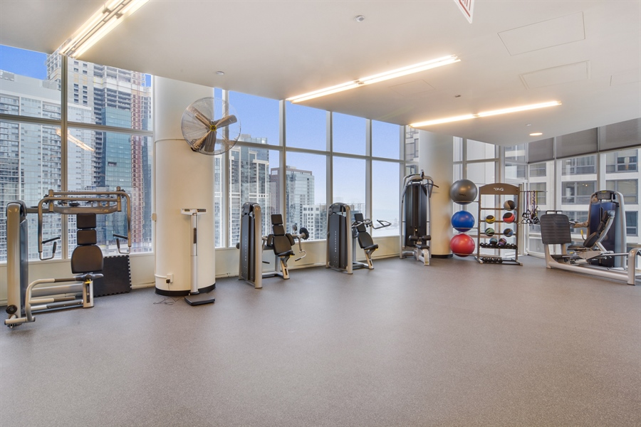 Real Estate Photography - 340 East Randolp, 5803, Chicago, IL, 60601 - Fitness Center