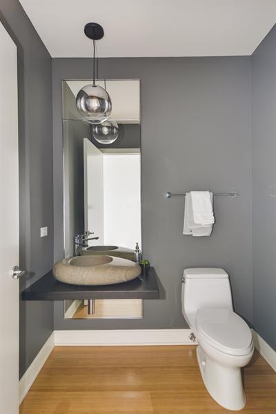 Real Estate Photography - 340 East Randolp, 5803, Chicago, IL, 60601 - Half Bath