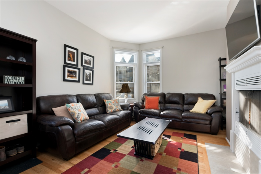 Real Estate Photography - 3335 N. Racine, A, Chicago, IL, 60657 - Living Room