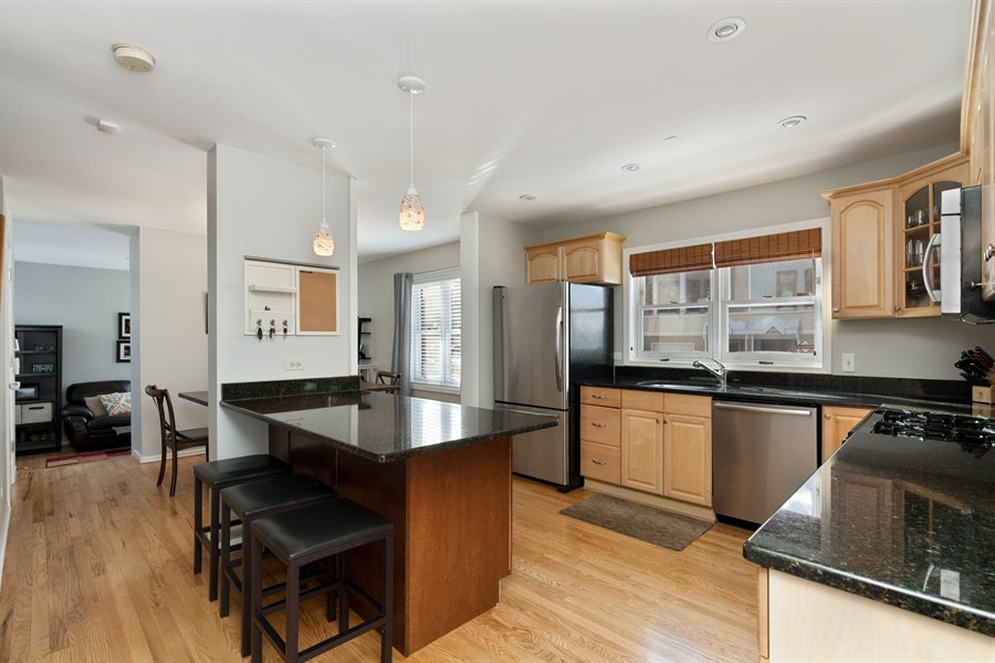 Real Estate Photography - 3335 N. Racine, A, Chicago, IL, 60657 - Kitchen
