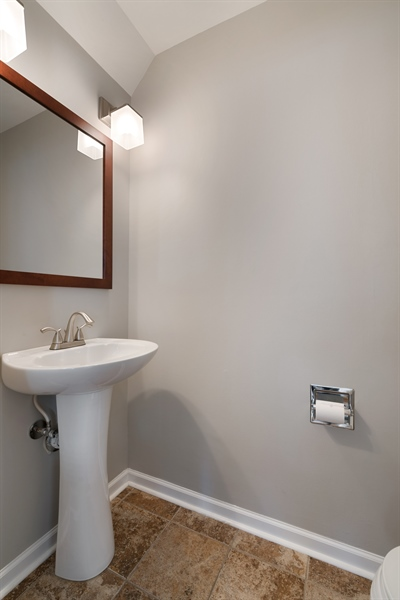 Real Estate Photography - 3335 N. Racine, A, Chicago, IL, 60657 - Main level powder room