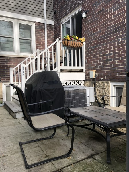 Real Estate Photography - 3335 N. Racine, A, Chicago, IL, 60657 - Private patio off kitchen