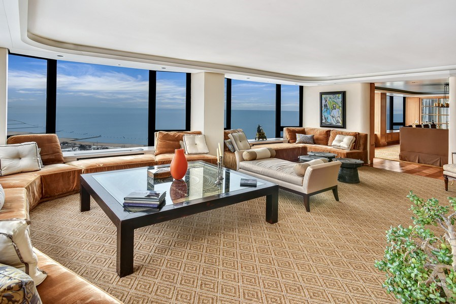 Real Estate Photography - 1555 N Astor St, Unit 28e, Chicago, IL, 60610 - Living Room