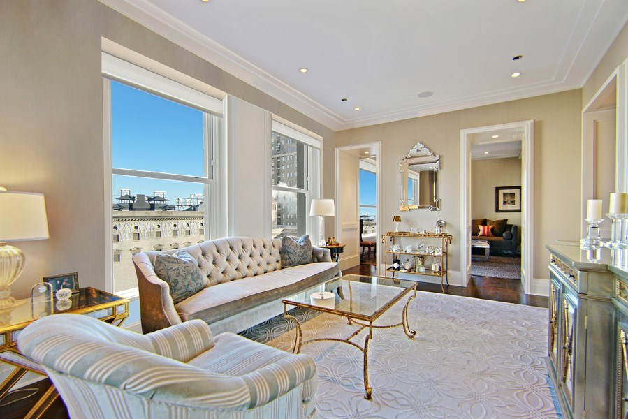 Real Estate Photography - 159 E Walton Pl, Unit 13A, Chicago, IL, 60610 - Living Room