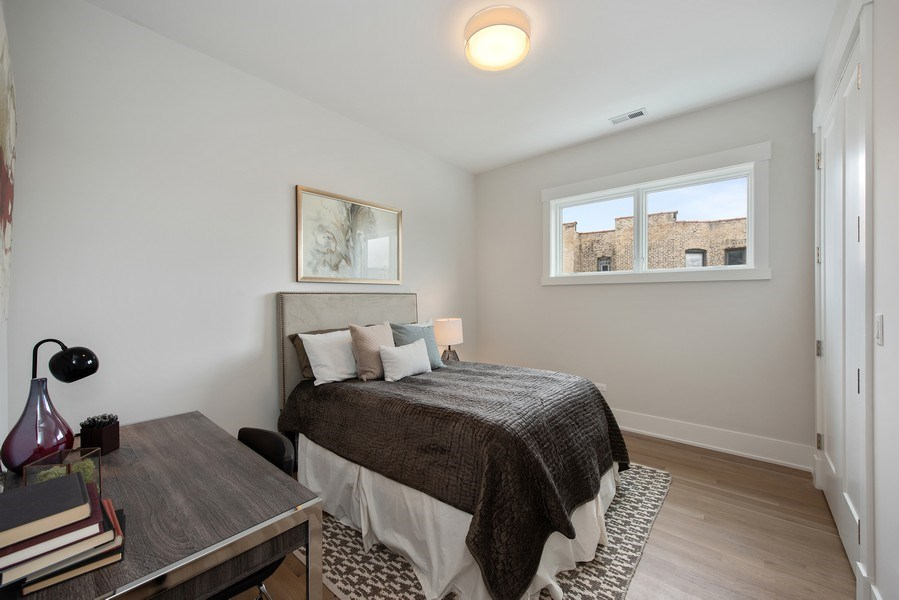 Real Estate Photography - 2751 W Lawrence, 2e, Chicago, IL, 60618 - 3rd Bedroom