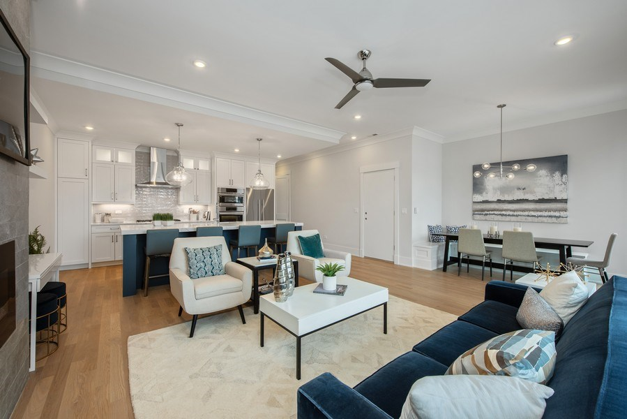 Real Estate Photography - 2751 W Lawrence, 2e, Chicago, IL, 60618 - Living Room