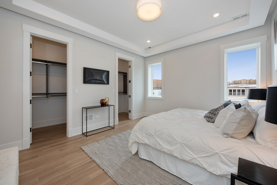 Real Estate Photography - 2751 W Lawrence, 2e, Chicago, IL, 60618 - Master Bedroom