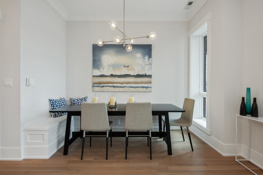 Real Estate Photography - 2751 W Lawrence, 2e, Chicago, IL, 60618 - Dining Room