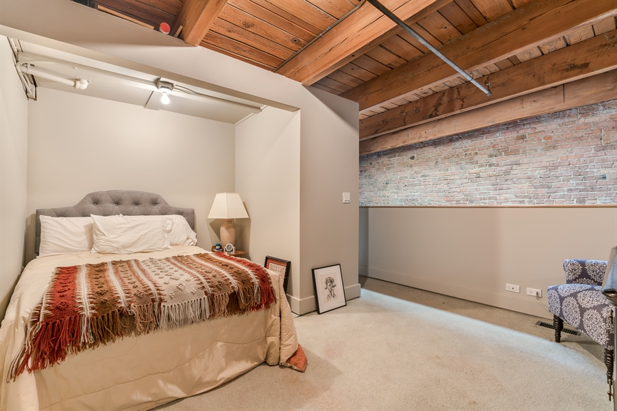 Real Estate Photography - 400 S Green St, 518, Chicago, IL, 60607 - 2nd Floor Bedroom