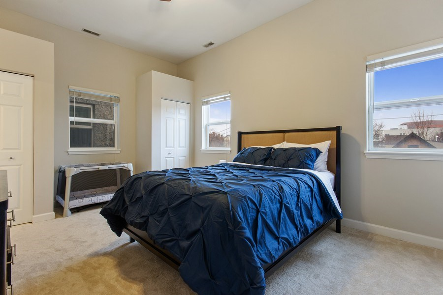 Real Estate Photography - 2352 W Bloomingdale, 3W, Chicago, IL, 60647 - Master Bedroom
