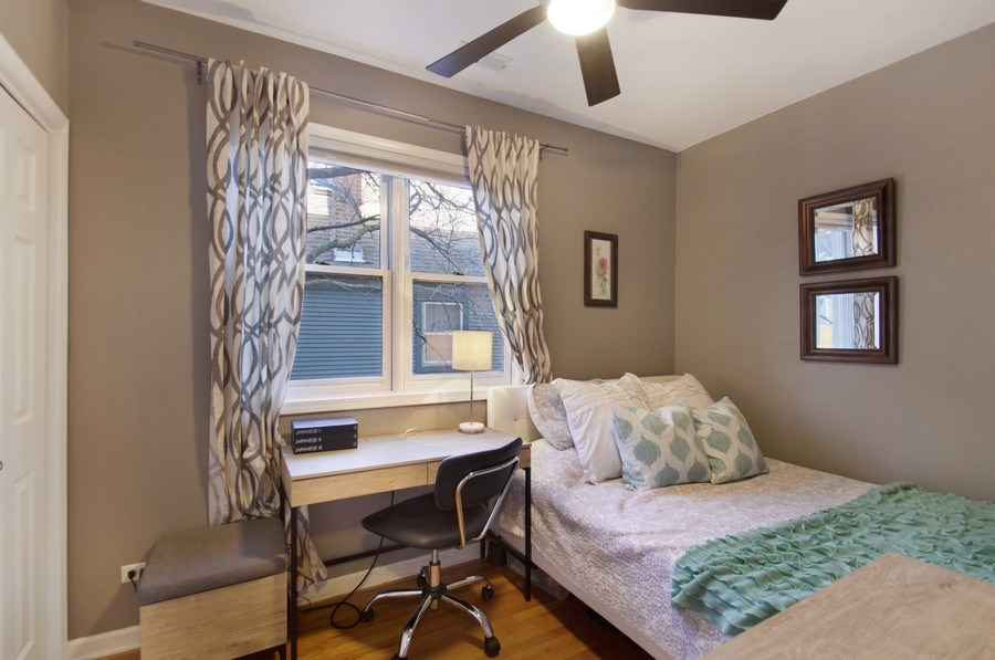 Real Estate Photography - 3831 N. Kenmore, 2, Chicago, IL, 60613 - 2nd Bedroom