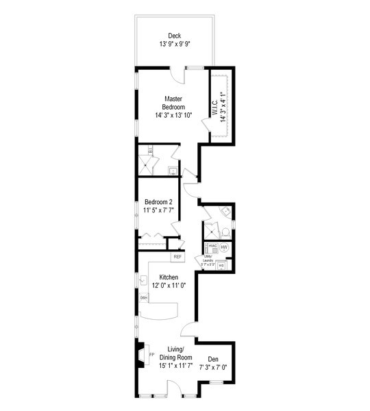 Real Estate Photography - 3831 N. Kenmore, 2, Chicago, IL, 60613 - Floor Plan