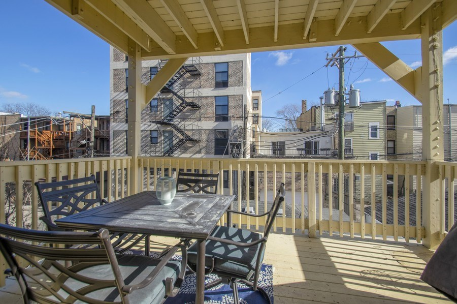 Real Estate Photography - 3831 N. Kenmore, 2, Chicago, IL, 60613 - Deck