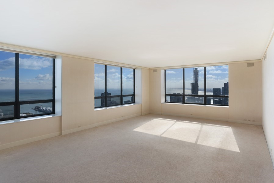Real Estate Photography - 180 E Pearson, #6704-05, Chicago, IL, 60611 - Living Room / Dining Room